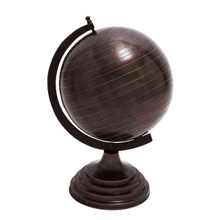Casa Cortes Espresso 19-Inch Decorative Old World Globe On Stand
