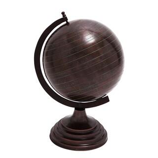 Casa Cortes Espresso 19-Inch Decorative Old World Globe On Stand