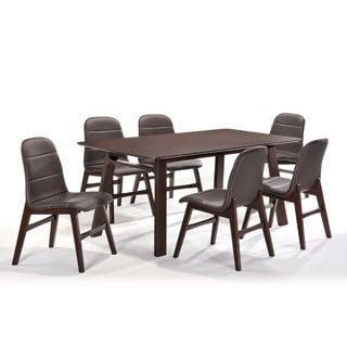Cafe 7-piece Dark Brown Dining Set