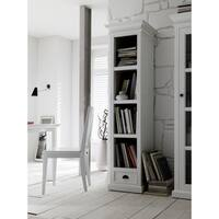 NovaSolo Mahogany Classic Bookshelf with Drawer