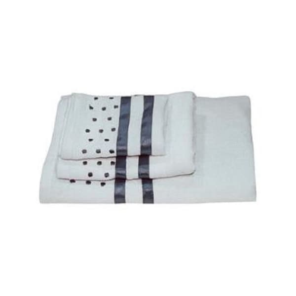 Dainty Home Darla Polka-dots Cotton 3-piece Bath Towel Set