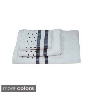 Dainty Home Darla Polka-dots Cotton 3-piece Bath Towel Set