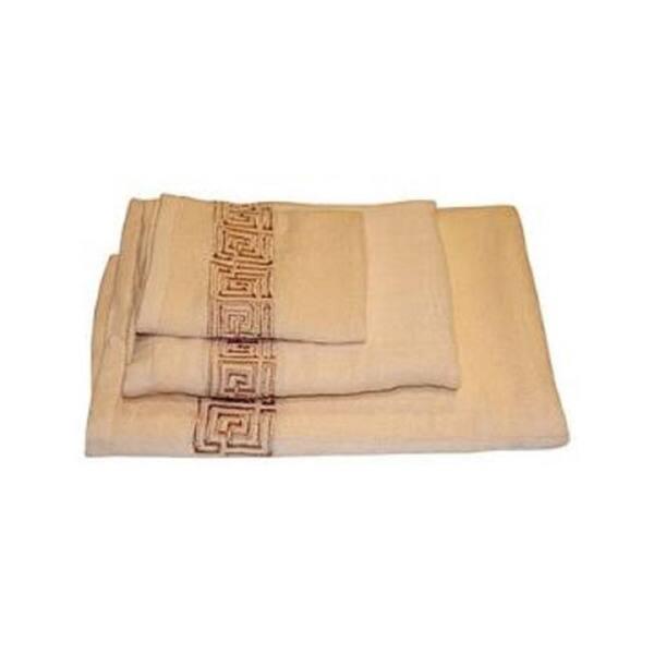 Greek Key Cotton 3 Piece Bath Towel Set