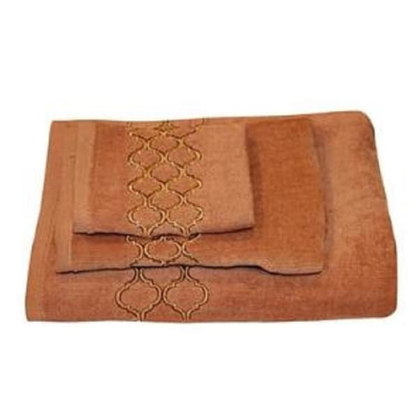 Beautiful Modern Trealls Cotton 3-piece Bath Towel Set