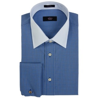 Alara Navy Mini Box French Cuff Dress Shirt