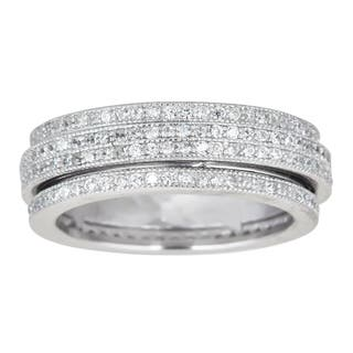 Decadence Sterling Silver Spinner Micropave CZ Eternity Ring|https://ak1.ostkcdn.com/images/products/9956427/P17109881.jpg?impolicy=medium