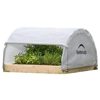 ShelterLogic Round Raised Bed Fully Closable Cover Greenhouse (4 x 4 x 2 feet)