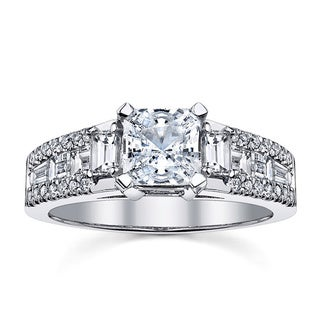 18k White Gold Certified 1 1/6ct TDW Radiant Diamond Engagement Ring (I-J, SI1-SI2)