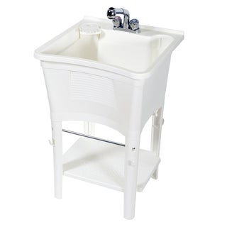 Zenith Ergo Tub Complete, Freestanding Utility Laundry Sink Kit