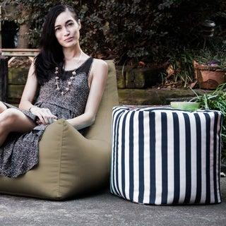 Jaxx Bean Bags Luckie Indoor/Outdoor Patio Ottoman