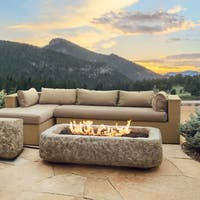 Real Flame Antique Stone 59 in. L x 37.5 in. W x 14.5 in. H Rectangle Propane Fire Pit
