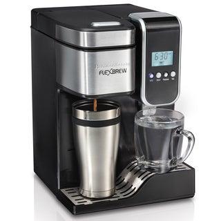 Hamilton Beach Black Programmable Single-Serve Coffee Maker with Hot Water Dispenser