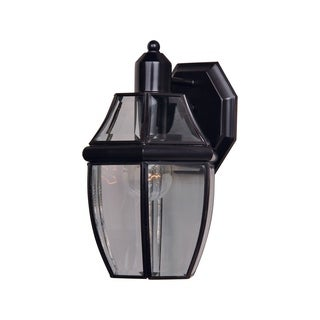 Maxim South Park Solid Brass Clear Glass Shade 1-light Outdoor Wall Mount
