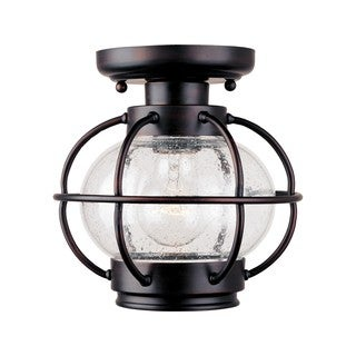 Maxim Aluminum Seedy Shade Portsmouth 1-light Outdoor Ceiling Mount