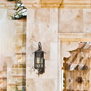 Maxim Iron Forged Iron Seedy Shade Scottsdale 3-light Outdoor Wall Mount