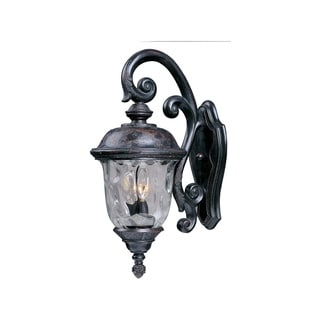 Maxim Die Cast Aluminum Water Glass Shade Carriage House Dc 2-light Outdoor Wall Mount