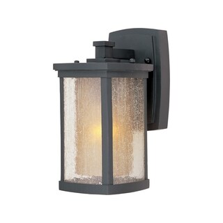Maxim Die Cast Aluminum Seedy/ Wilshire Shade Bungalow 1-light Outdoor Wall Mount