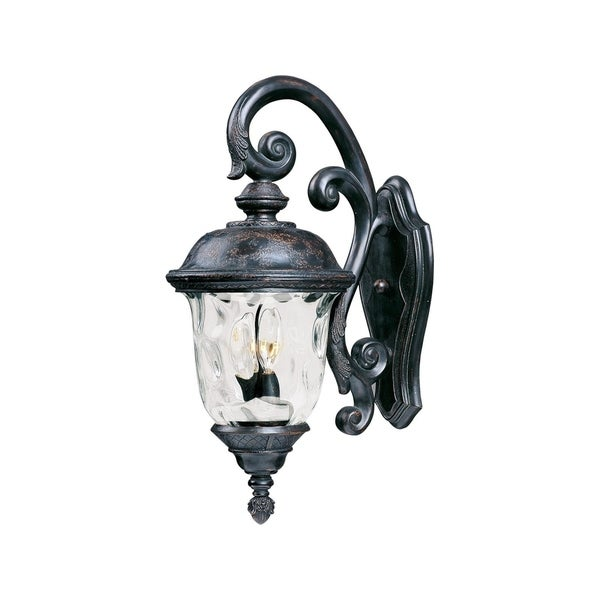 Maxim Vivex Water Gl Shade Carriage House 2 Light Outdoor Wall Mount