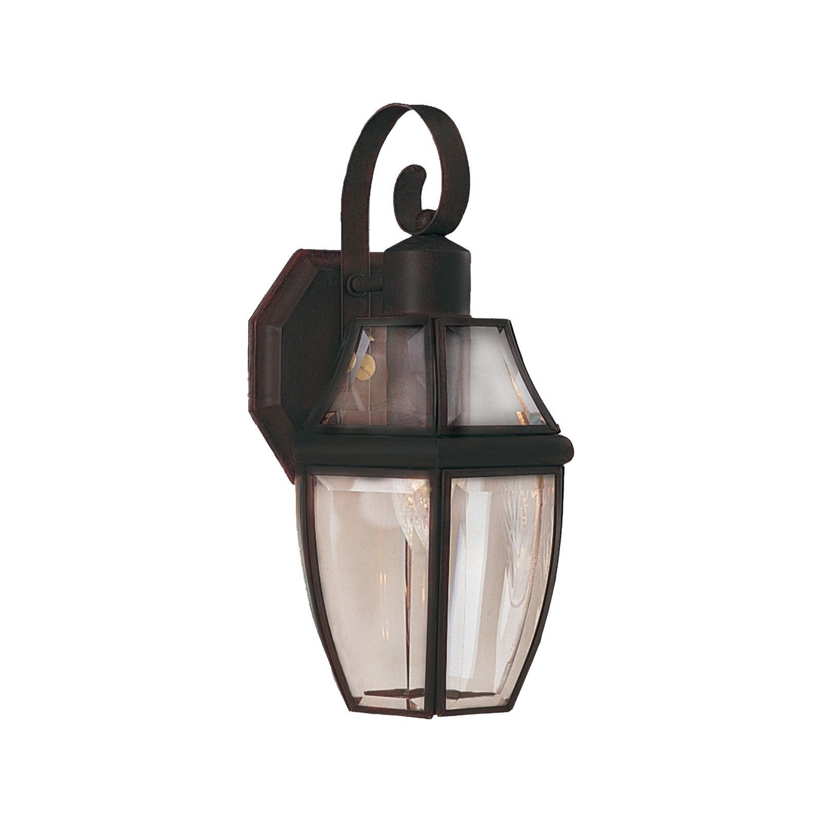 Maxim Solid Brass Clear Glass Shade South Park 1-light Outdoor Wall Mount (South Park 1-Light Outdoor Wall Lantern)