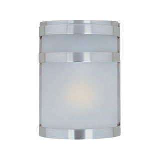 Maxim Steel Stainless Steel Frosted Shade Arc 1-light Outdoor Wall Mount