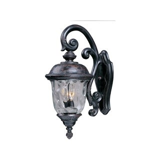 Maxim Die Cast Aluminum Water Glass Shade Carriage House Dc 3-light Outdoor Wall Mount
