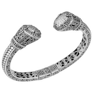 Sterling Silver 'Bali Gardens' Cawi Cuff Bracelet (Indonesia) https://ak1.ostkcdn.com/images/products/9957056/P17110295.jpg?impolicy=medium