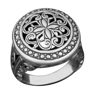 Sterling Silver 'Sacred Garden' Cawi Ring (Indonesia)