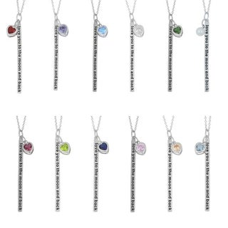 329e7cdf91 Shop Fremada Rhodium-plated Sterling Silver 'Love You to the Moon ...