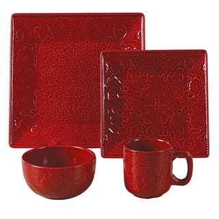 Lovely HiEnd Accents Savannah 16 Piece Dinnerware Set   Free Shipping Today    Overstock.com   17110922