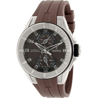 Festina Men's F16611/2 Brown Silicone Quartz Watch