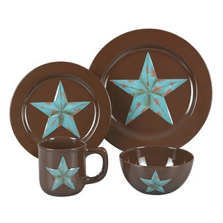 HiEnd Accents Turquoise Star 16-piece Dinnerware Set