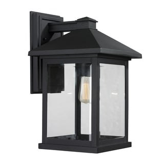 Portland 1-light Matte Black Outdoor Wall Light