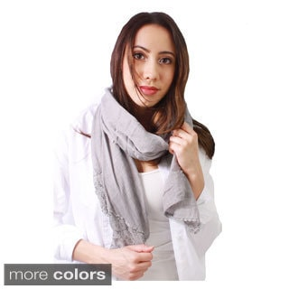 Le Nom Women's End Lace Scarf