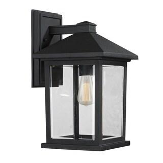 Portland 1-light Matte black Outdoor Wall Light