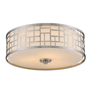Z-Lite Elea 3-light Matte Opal Flush Mount