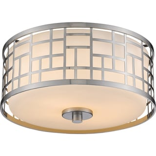 Z-Lite Elea 2-light Matte Opal Flush Mount