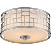 Avery Home Lighting Elea 2-light Matte Opal Flush Mount