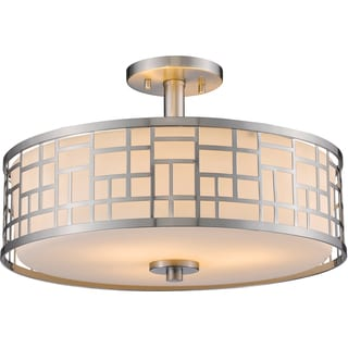 Z-Lite Elea 3-light Brushed Nickel Semi-Flush Mount