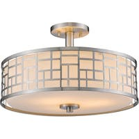 Avery Home Lighting Elea 3-light Brushed Nickel Semi-Flush Mount