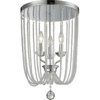 Avery Home Lighting Serenade 3-light Chrome and Crystal Flush Mount