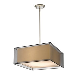 Z-Lite Sedona 3-light Brushed Nickel Pendant