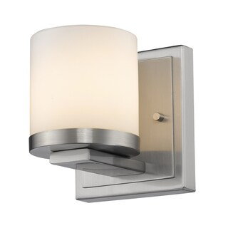 Z-Lite Nori Brushed Nickel 1-light Matte Opal Glass Shade Wall Sconce
