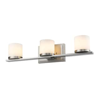 Z-Lite Nori Brushed Nickel 3-light Matte Opal Vanity