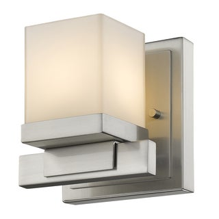 Z-Lite Cadiz Brushed Nickel 1-light Matte Opal Shade Wall Sconce