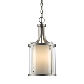 Z-Lite Willow 3-Light Brushed Nickel Pendant