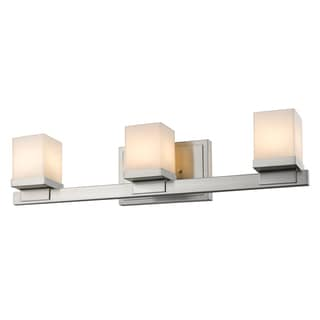 Z-Lite Cadiz Brushed Nickel 3-light Matte Opal Vanity