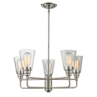 Z-Lite Annora 5-light Brushed Nickel Clear Chandelier