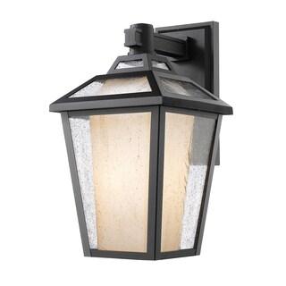 Z-Lite Memphis 1-Light Black Outdoor Wall Light