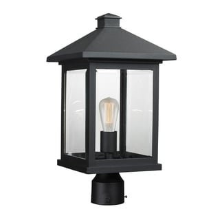 Z-Lite Portland 1-light Black Post Mount