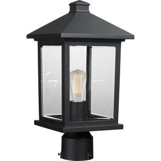 Avery Home Lighting Portland 1-Light Black Post Mount